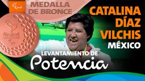 Rio 2016: Catalina Díaz Vilchis (México) Bronce en Levantamiento de potencia