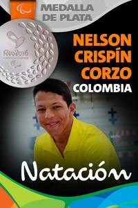Rio 2016: Nelson Crispín Corzo (Colombia) Plata en Natación